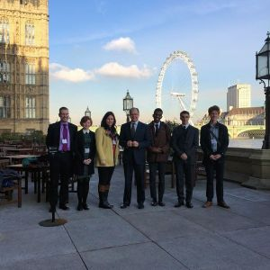 Norfolk Way Bursary winners with George Freeman MP at Westminster